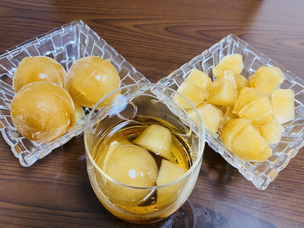 ほうじ茶氷(丸い氷&四角の氷)