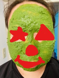 緑茶米ぬかパックを塗ってみた