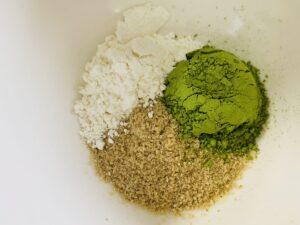 緑茶米ぬかパックの材料
